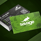 Savage Pet Shop Business Card