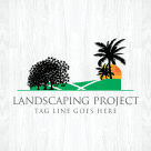 Landscaping Project Logo template