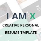I am X - Creative Personal Resume Template