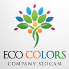 Eco Colors - Human Tree Logo