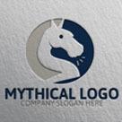 Unicorn Mythical Logo