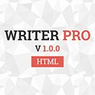 WriterPRO - Minimal blog HTML Template