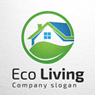 Eco Living - Eco House Logo