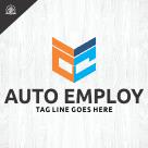Letter AE, Auto Employ Logo