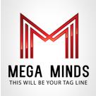 Mega Minds M Letter Logo
