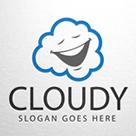 Cloudy -  Cloud Face Logo