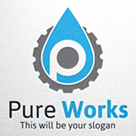 Pure work - Letter P & Gear Logo