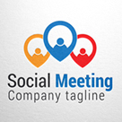 Social Meeting, Human Group Logo.