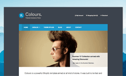 nColours. - Ecommerce HTML Template