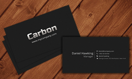 Carbon Blackish Business Card