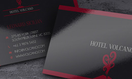 Volcano Hotel Business Card