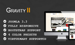 GravityII - Responsive Ecommerce Joomla Template with Virtuemart