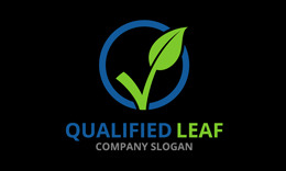 Qualified Leaf Logo