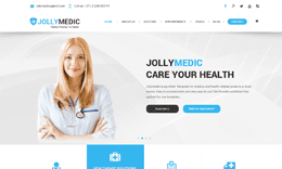 JollyMedic - Hospital, Health Care HTML5 Website Template