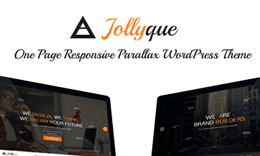 Jollyque - Onepage HTML5 Website Template