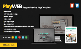 PixyWEB - Responsive One Page Template