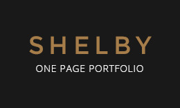 Shelby - Simple Personal Portfolio One Page Template