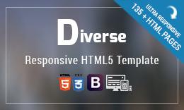 Diverse - Multi-purpose Bootstrap HTML template