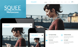Squee – Multipurpose Responsive One Page WordPress Theme