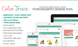 ColorTrace - Responsive Magento Design Tool & Theme