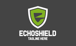 Echo Shield - E Letter Logo Template