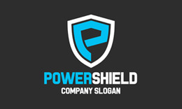 Power Shield - P Letter Logo Template