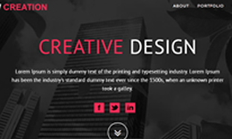 NEW CREATION – Modern & Multipurpose One Page Responsive Theme