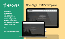 Grover - One-Page HTML5 Template