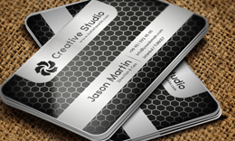 Golden - Silver Honeycomb Business Cards