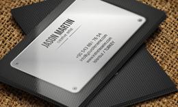 Abstract Metallic 3D Business Card