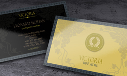 Victoria Wine Store Business Card