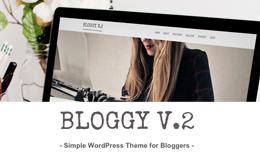 Bloggy v.2 - Blog WordPress Theme