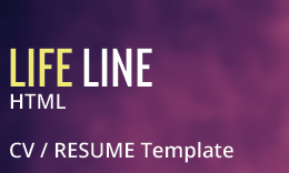 LifeLine Responsive One Page vCard & Resume HTML5 Template