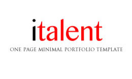 ITalent Responsive Portfolio Site