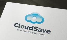 Cloud Save Logo Template