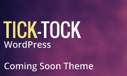 TickTock – Under Construction/Coming soon WordPress Theme