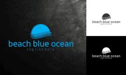 beach blue ocean