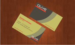 soft minimalist OLIVE business card