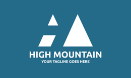 High Mountain • HM Letter Logo Template