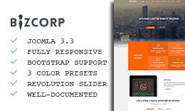 BizCorp - Responsive Onepage Joomla Template