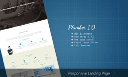 Plumber - Bootstrap Responsive HTML Landing Page