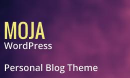 MOJA - Beautiful Personal WordPress Blog Theme