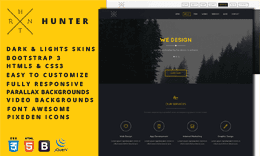 Hunter - One Page HTML5 Template