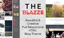 The Blazee - Amazing HTML Theme