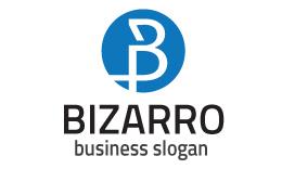 Bizarro B Letter logo