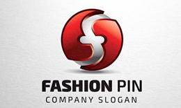 Fashion Pin - Letter F Logo