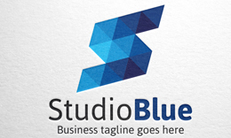 StudioBlue - Letter S Logo