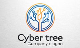 Cyber tree - Tech Logo