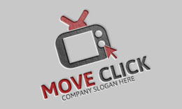 Television Click Logo Template
