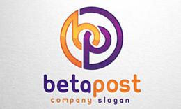 Beta Post - Letter b & p logo